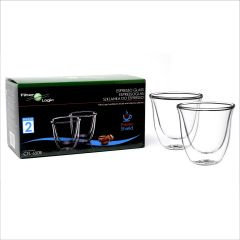 FilterLogic CFL-655B Double Wall Espresso Glasses (Twin Pack)