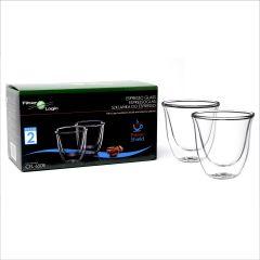 FilterLogic CFL-655B Double Wall Espresso Glasses (Twin Pack)