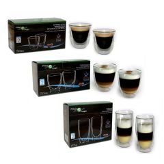 FilterLogic Double Wall Mixed Coffee Glass Set